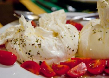 mozarella and tomatoes